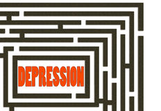 Way out of depression - maze Royalty Free Stock Photography