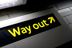 Way out Royalty Free Stock Photos