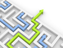 Way out of the labyrinth. 3d rendering Stock Photography