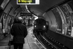 London Underground Tube station, atmospheric Royalty Free Stock Images