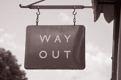 Way Out Sign Royalty Free Stock Photography