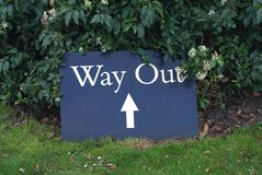 Way Out sign Royalty Free Stock Images