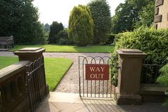 Way out sign Stock Image