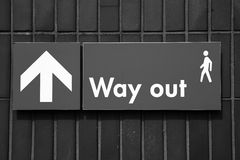 Way out sign. Way out Street sign in certain Royalty Free Stock Image