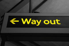 Way out Royalty Free Stock Photography