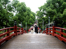 Way over Japanese bridge in Kyushu Stock Photography