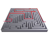 Way pass intricacy labyrinth isometric maze background 3d design template vector illustration Royalty Free Stock Photos