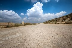 Way of the Patriarchs. Israel. Way of the Patriarchs or Way of the Fathers. The name is used in biblical narratives that it was frequently traveled by Abraham stock image