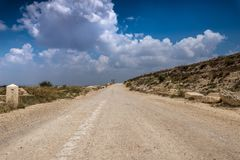 Way of the Patriarchs. Israel. Way of the Patriarchs or Way of the Fathers. The name is used in biblical narratives that it was frequently traveled by Abraham stock photography