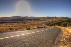 Way. This is a processed by hdr photos, taken in the late autumn of inner mongolia grassland of china stock photography