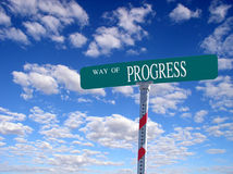 Way of Progress. Sign that reads Way of Progress Royalty Free Stock Image