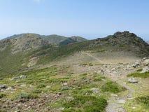 Way from Punta la Marmora - Gennargentu National Park Stock Photos