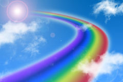 Way of rainbow Royalty Free Stock Image