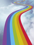 The way of rainbow Royalty Free Stock Photos