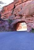 Way through red rocks near denver colorado stock photography