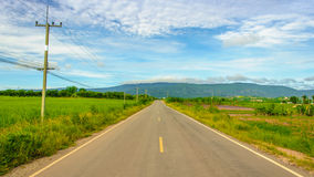 On the way. Road view nature to home Stock Photos