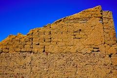 Way of saint James adobe mud walls at Palencia. The way of saint James adobe mud walls at Palencia Spain stock photos