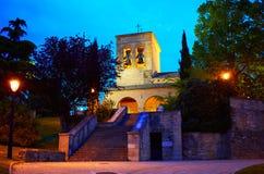 Way of Saint James church in Cizur Menor Spain Royalty Free Stock Photography