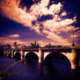 Way of Saint James in Logrono bridge Ebro river Stock Photography