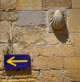The way of Saint James sign at Granon in La Rioja Stock Images