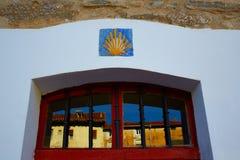 The Way of Saint James signs in Belorado Castilla. Burgos stock image