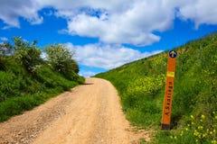 The way of Saint James track 570 km to Santiago Stock Photo