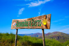 Way of Saint James welcome sign El Bierzo Leon Royalty Free Stock Images