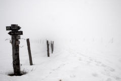 Free Way Sign In Winter No.1 Stock Photo - 3682720