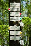 Way signs in czech Republic royalty free stock photos