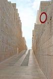 Way between stone walls Stock Photo