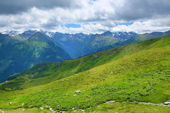 The Way from Stubnerkogel, Bad Gastein, Funicular, Austria Royalty Free Stock Photo
