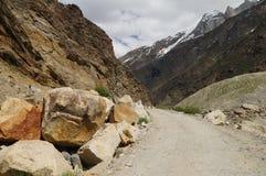 Way from Suru valley to Kargil in  Ladakh,India Stock Photo