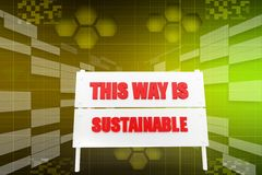 This way sustainable illustration Royalty Free Stock Photos