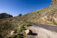 The way on Tenerife, Canary islands Stock Image