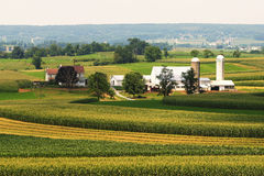 The way things were. An Amish farmland in Pennsylvania stock photography