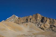 Way through Thorong la Pass, Himalaya mountains. Nepal. Way through Thorong la Pass, Himalaya mountains in Nepal, Annapurna circuit trek stock images