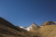 Way through Thorong la Pass, Himalaya mountains. Nepal. Way through Thorong la Pass, Himalaya mountains in Nepal, Annapurna circuit trek royalty free stock images