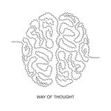Way of thought. The thought passes a difficult way in the head Royalty Free Stock Photos