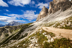 The way thru the mountains. Alpes Royalty Free Stock Image