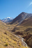 Way to Aconcagua. Mountain, Mendoza, Argentina Royalty Free Stock Image