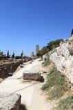 Way to Acropolis of Athens Stock Photos