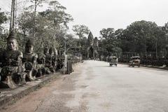 The Way to Angkor Thom Royalty Free Stock Photos