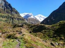 Way to Annapurna Base Camp stock photos