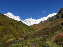 Way to Annapurna Base Camp Stock Images