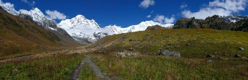 Way to Annapurna Base Camp Stock Photo