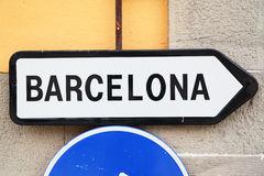 Way to Barcelona Royalty Free Stock Photography