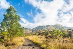 On the way to Batur Volcano in Bali Stock Photos