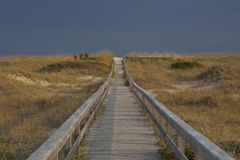 The way to the Beach. In north Carolina near Cape Hatteras Stock Photography