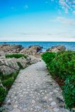 Way to the beach in Labadee, Haiti royalty free stock photography