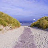 Way to the beach (north-sea) Royalty Free Stock Photography